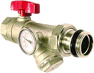 Isolation Valve with Thermometer & Y-Strainer