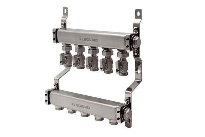 M-8300EV Economy Stainless Steel Manifold with Circuit Isolation Valves