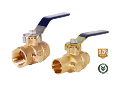 T/S 2102NL No Lead Forged Brass Full Port Ball Valve with Drain