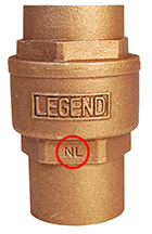 Legend Valve No Lead Product Identification